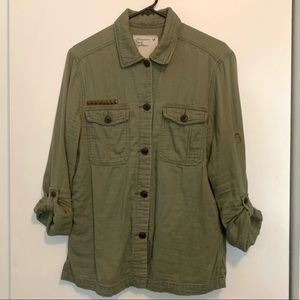 American Eagle: Army Green Blouse